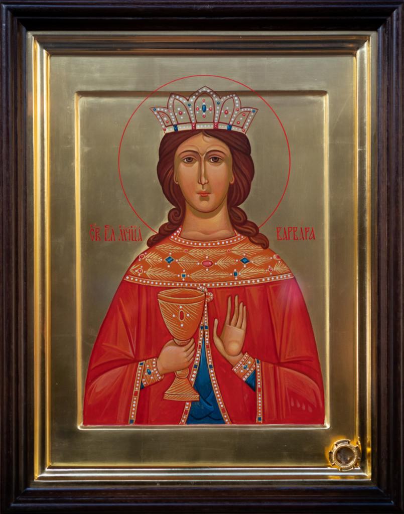 икона с частицами мощей св. великомученицы Варвары