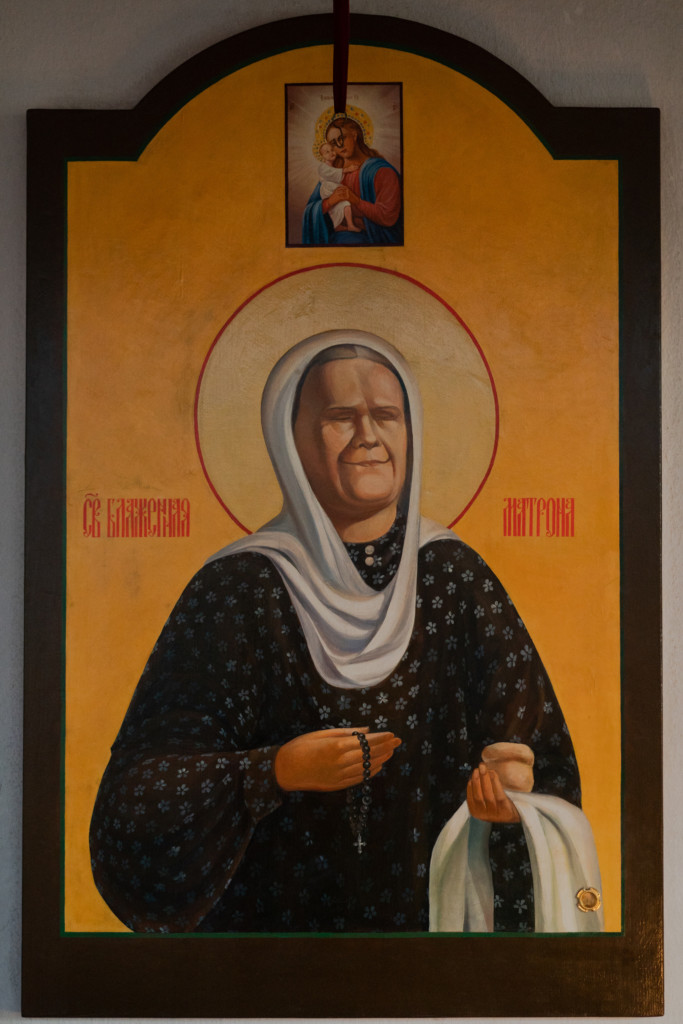 икона с частицами мощей блаженной Матроны Московской