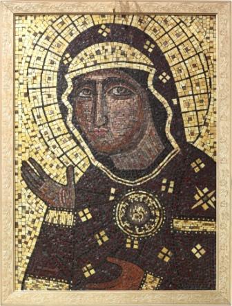мозаичная икона Пресвятой Богородицы